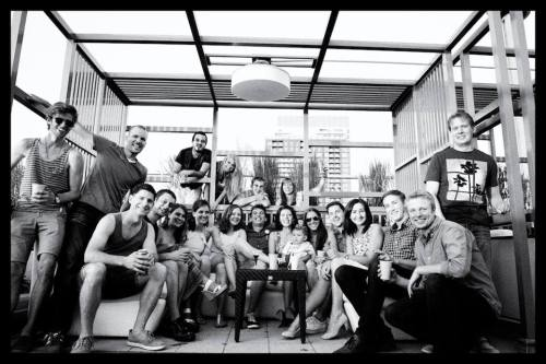 Some of the people I'm privileged to work with. Circa summer, 2014.